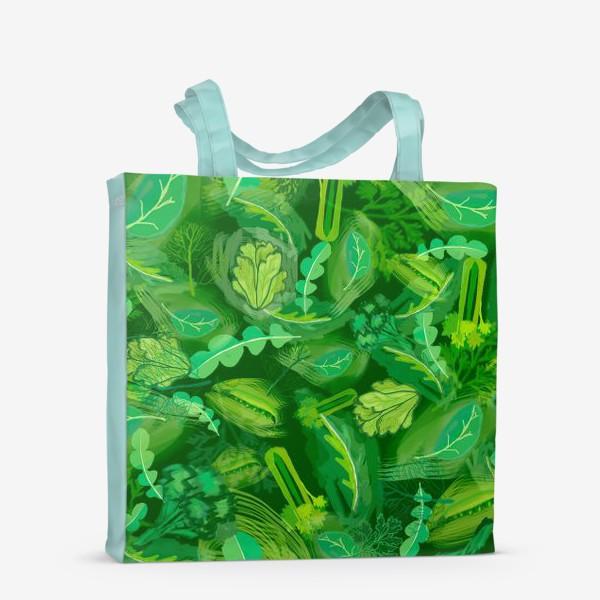 Сумка-шоппер «Кухня еда зелень шпинат сельдерей укроп »