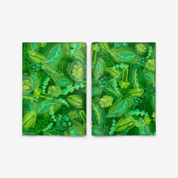 Обложка для паспорта «Кухня еда зелень шпинат сельдерей укроп »