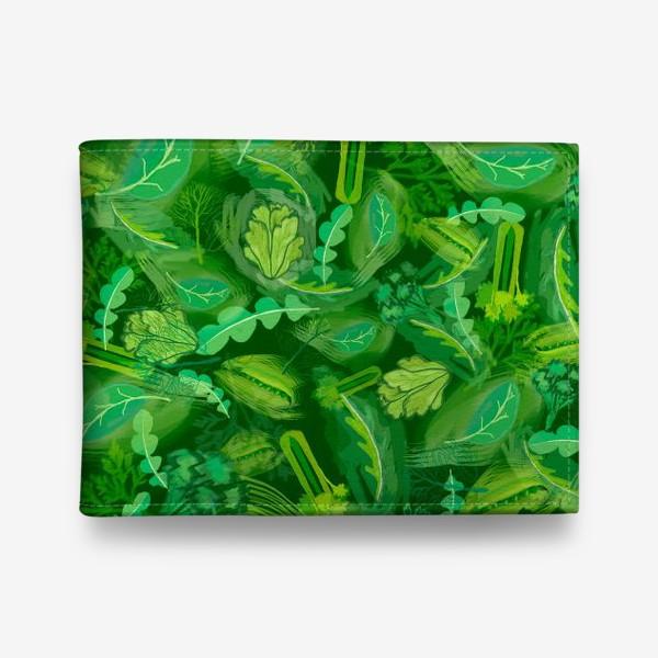 Кошелек «Кухня еда зелень шпинат сельдерей укроп »