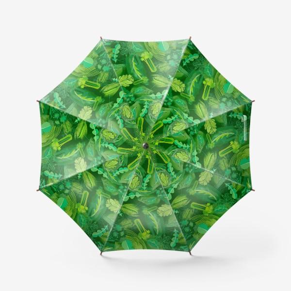 Зонт «Кухня еда зелень шпинат сельдерей укроп »