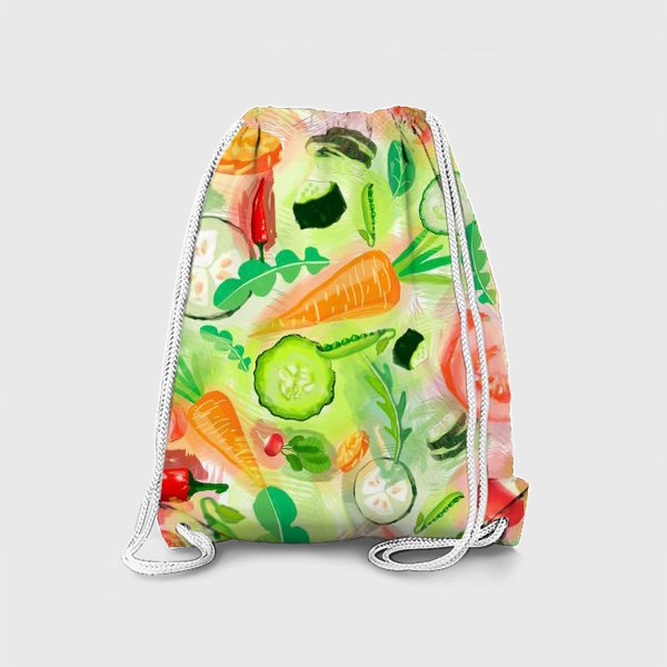 Рюкзак «Овощи витамины vegetables огурец помидор перец зелень»