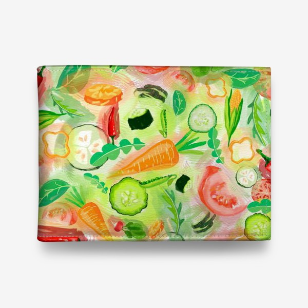 Кошелек «Овощи витамины vegetables огурец помидор перец зелень»
