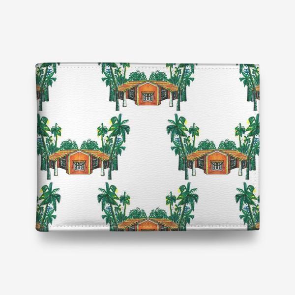 Кошелек «Паттерн дома пальмы рисунок»