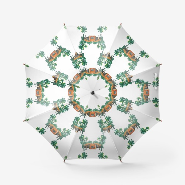Зонт «Паттерн дома пальмы рисунок»