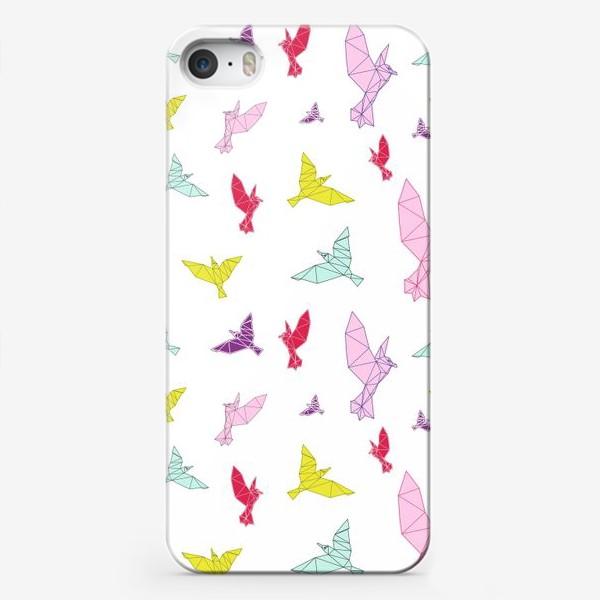 Чехол iPhone «Птицы геометрия ярко »