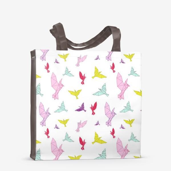 Сумка-шоппер «Птицы геометрия ярко »