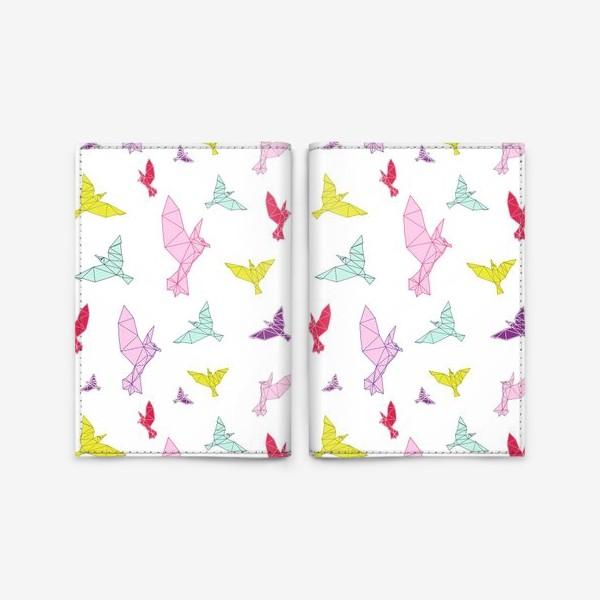 Обложка для паспорта «Птицы геометрия ярко »