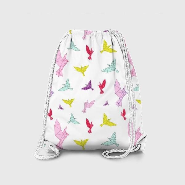 Рюкзак «Птицы геометрия ярко »