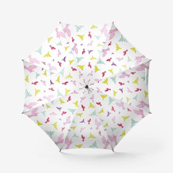 Зонт «Птицы геометрия ярко »