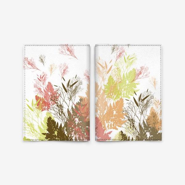 Обложка для паспорта «Растения осень листочки природа деревья»