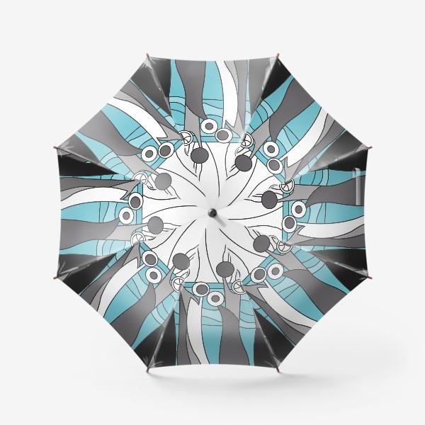 Зонт «Космический лес цветы»