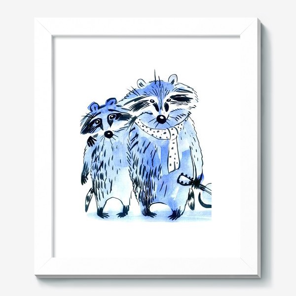 Картина «friends the raccoons musicians»