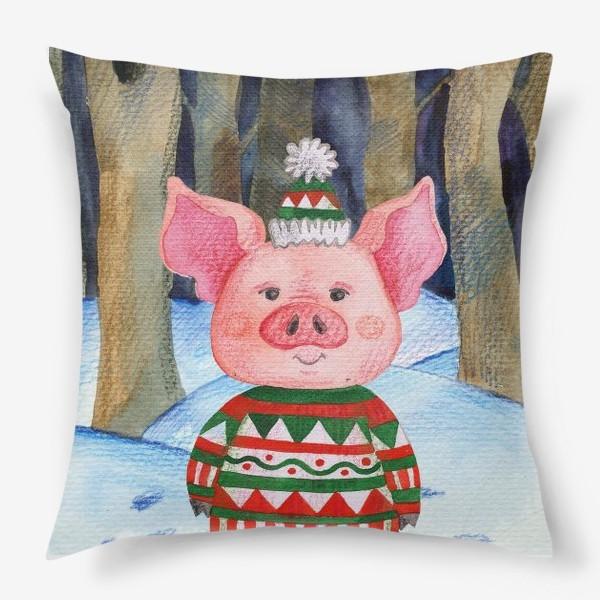 Подушка «Свинья в лесу»