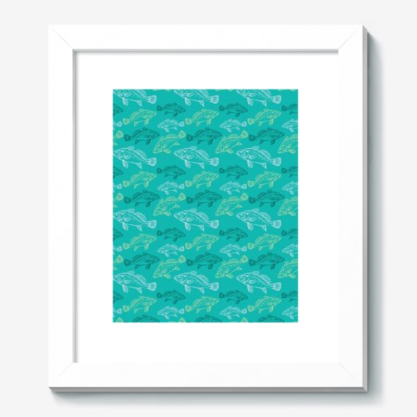 Картина «Морские рыбы в бирюзе»