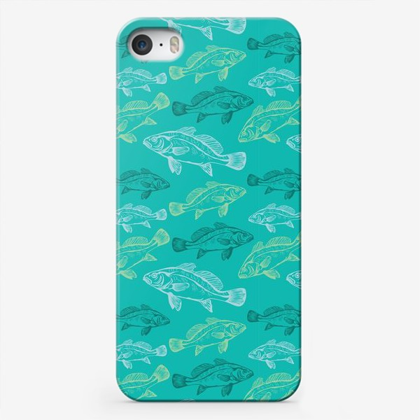 Чехол iPhone «Морские рыбы в бирюзе»