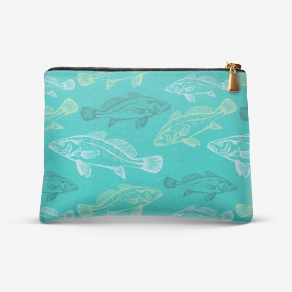 Косметичка «Морские рыбы в бирюзе»