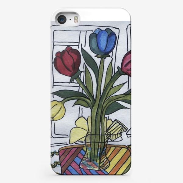 Чехол iPhone «тюльпаны»