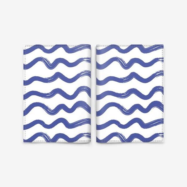 Обложка для паспорта «wave1»