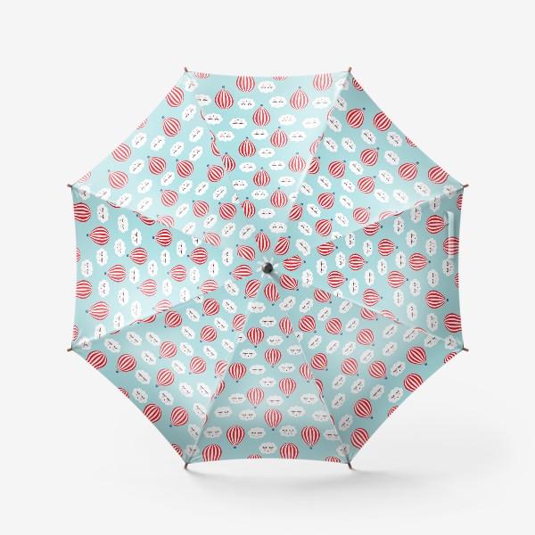 Зонт «Воздушные шары в облаках»