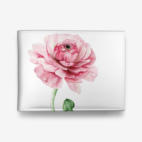 Кошелек «Розовый ранункулюс »
