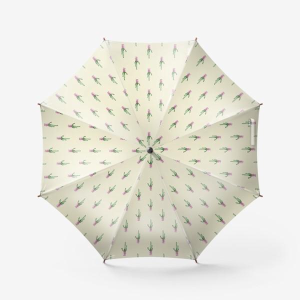 Зонт «Кактусы на желтом»