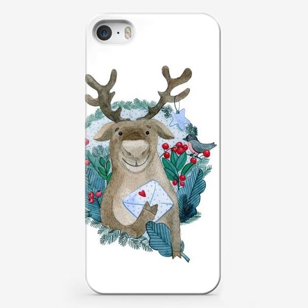 Чехол iPhone «Северный олень»
