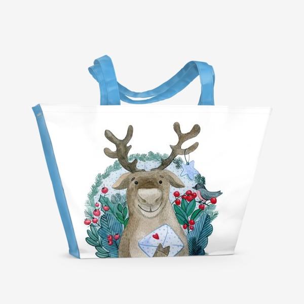 Пляжная сумка «Северный олень»