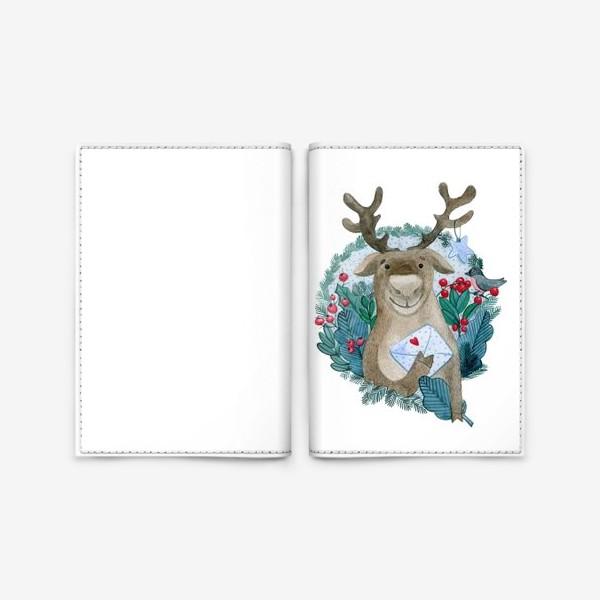 Обложка для паспорта «Северный олень»