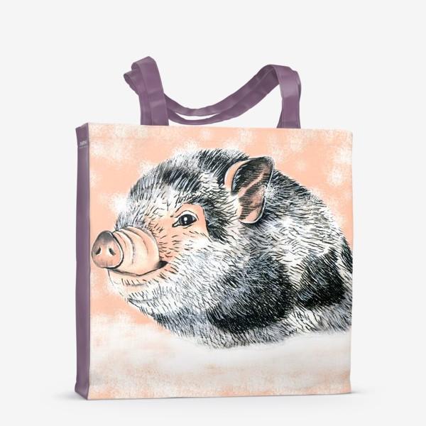 Сумка-шоппер «Поросенок Хрюша Свинья Новый год 2019»