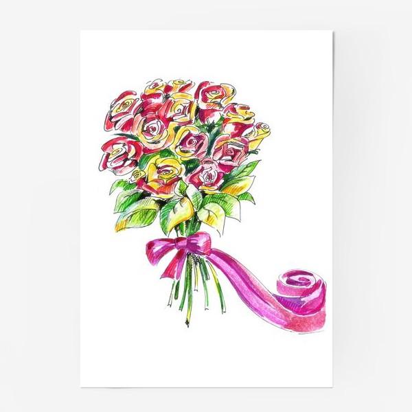 Постер «Букет роз»