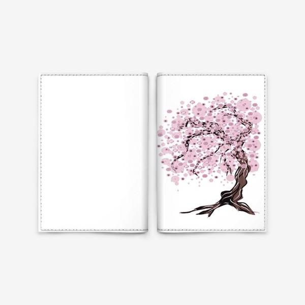 Обложка для паспорта «Сакура»