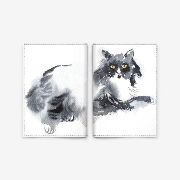 Обложка для паспорта «Кошка отдыхает»