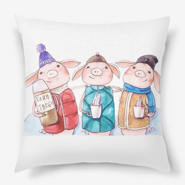 Подушка «Три веселых поросенка»