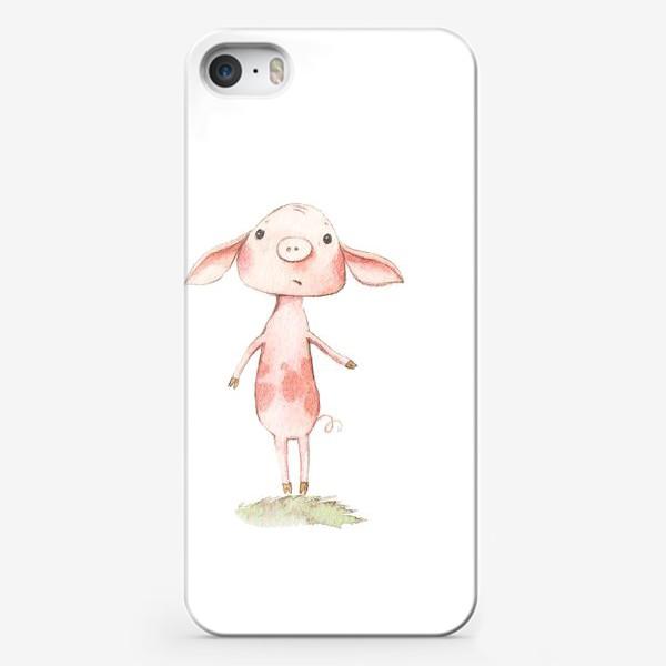 Чехол iPhone «Одинокий хрюня»