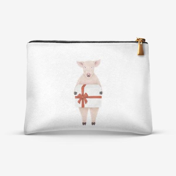 Косметичка «Свинка с подарком»