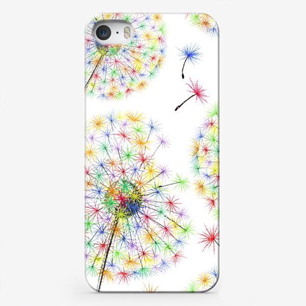 Чехол iPhone «Одуванчики-радуга»