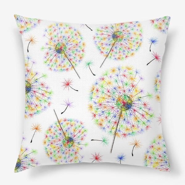 Подушка «Одуванчики-радуга»
