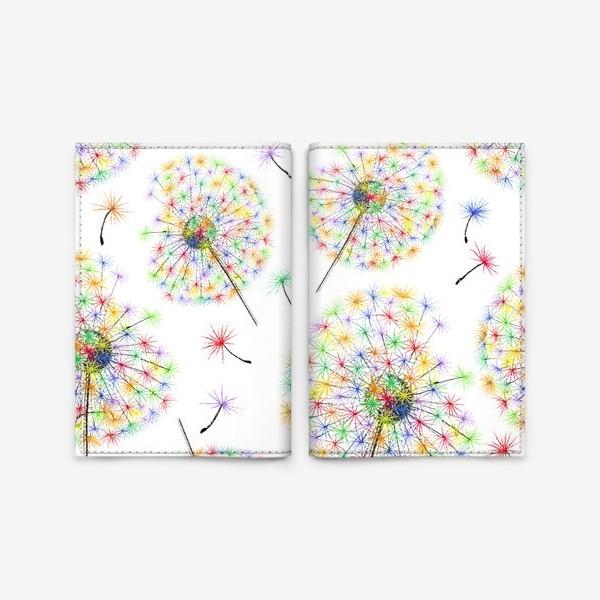 Обложка для паспорта «Одуванчики-радуга»
