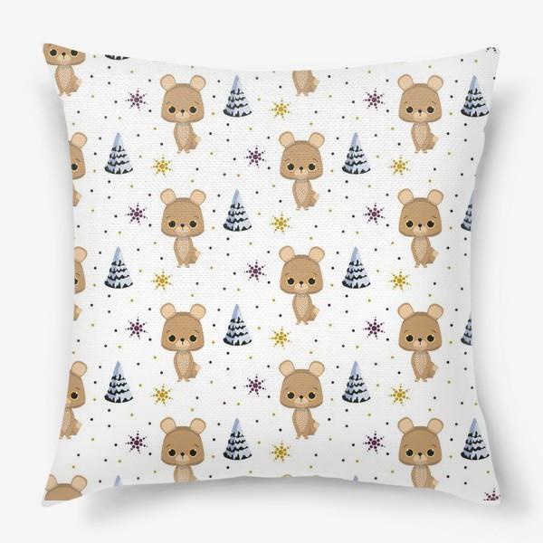 Подушка «зимний паттерн»