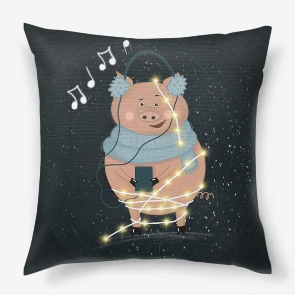 Подушка «Свинка праздничная»