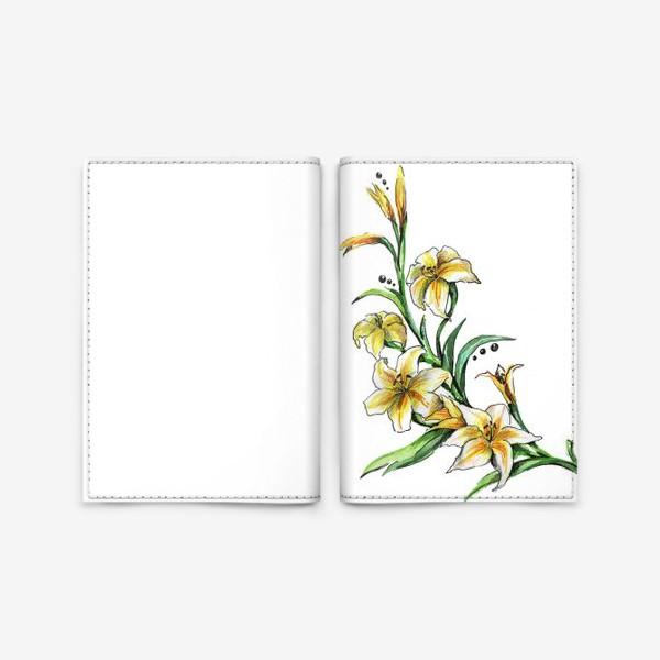 Обложка для паспорта «Гладиолус»