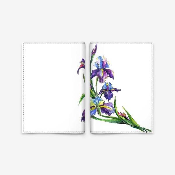 Обложка для паспорта «Ирисы»