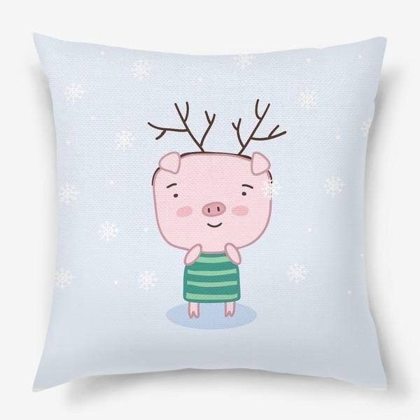 Подушка «Зимний поросенок»