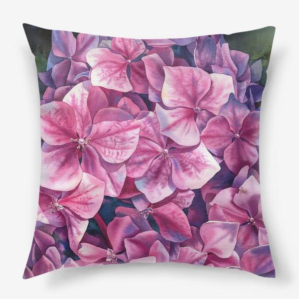 Подушка «Spring hydrangea»