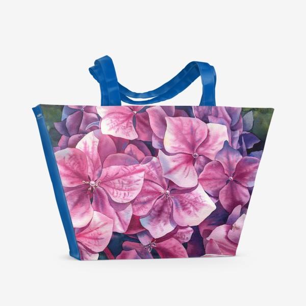 Пляжная сумка «Spring hydrangea»