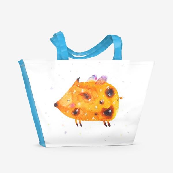 Пляжная сумка «Свинка поднебесная»