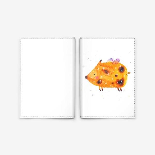 Обложка для паспорта «Свинка поднебесная»