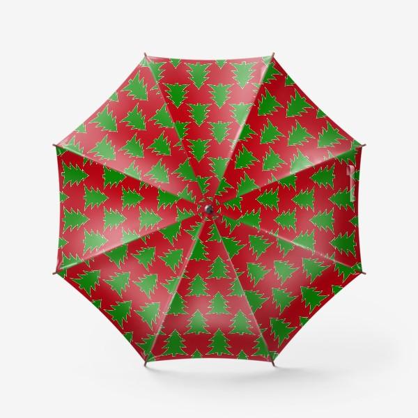 Зонт «Новогодние елочки»