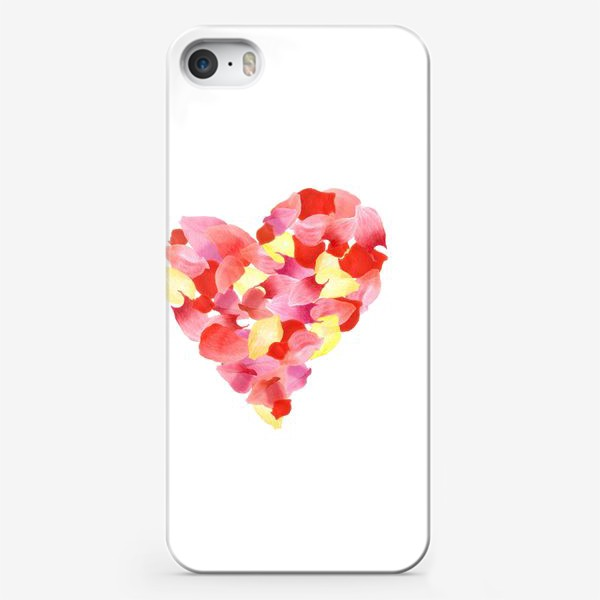 Чехол iPhone «Цветочное сердце»