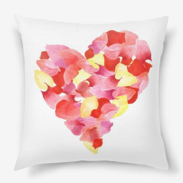 Подушка «Цветочное сердце»